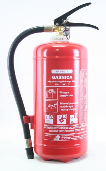 Gaśnica proszkowa 4 kg ABC GAZ-TECH
