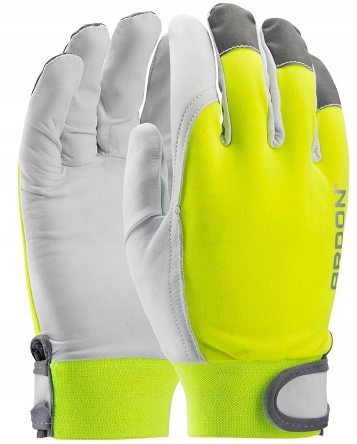 Rękawice robocze Hobby Reflex wzmac.skórą licową