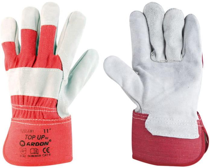 Rękawice robocze TOP UP wzmacniane skórą ARD