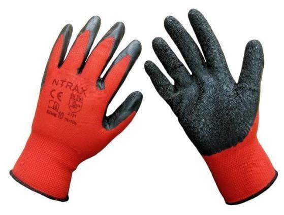 12x Rękawice robocze NTRAX-RED nitryl