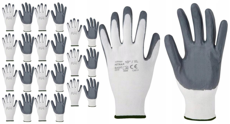 12x Rękawice robocze NITRAX BASIC sza nitr ARD
