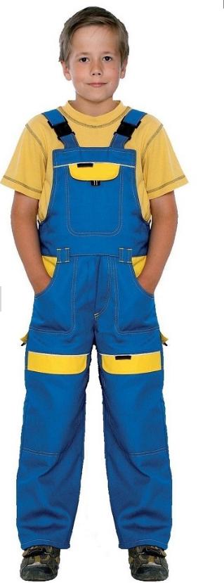 Spodnie ogrodniczki TREND dziecięce nieb-żółt