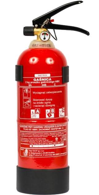 Gaśnica proszkowa 2 kg ABC GAZ-TECH