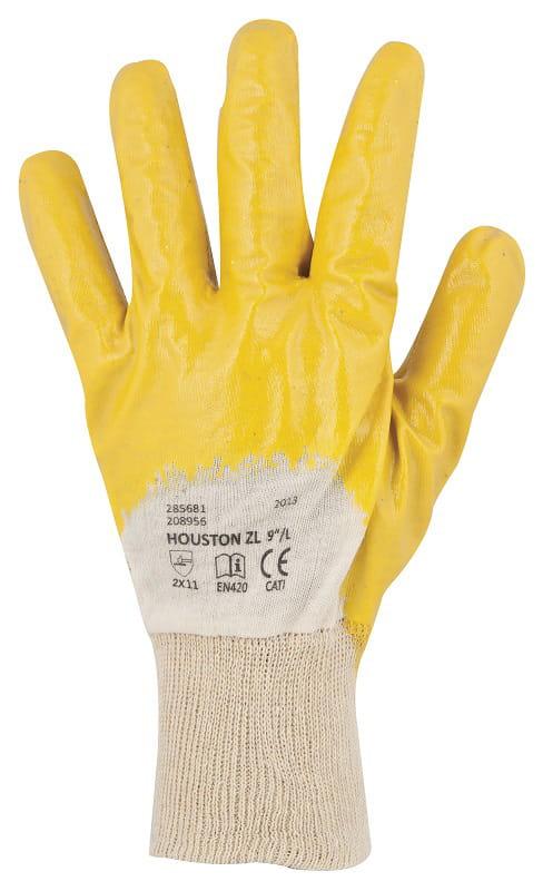 Rękawice robocze HOUSTON nitryl żółte ARD